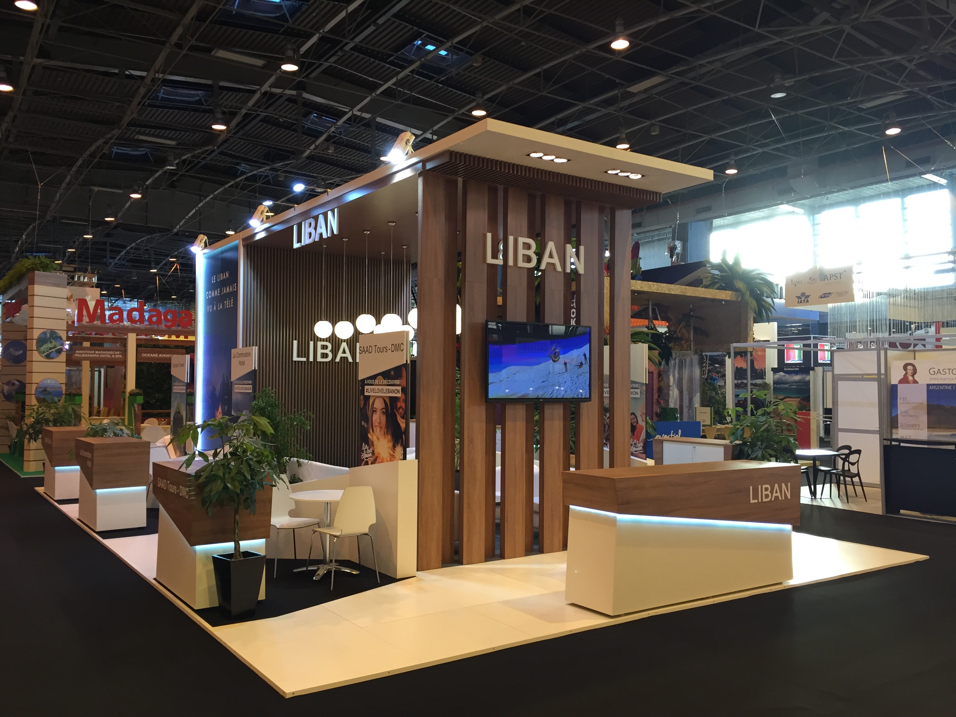 Exhibition Stand Builders France : Our exhibition stand at topreza in paris liban is french for